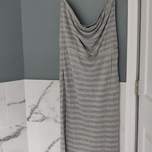 Silver white house Black market maxi dress